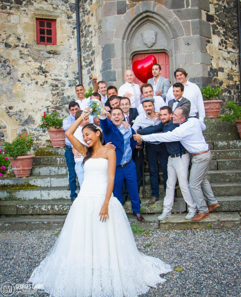 Mariée chateau saint saturnin